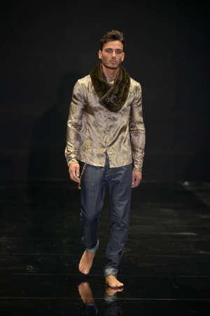 SEVILLE, SPAIN, November 27: Fashion show of spanish designer Oscar Marin in Pasarela Sevilla in Seville, Spain. Editorial