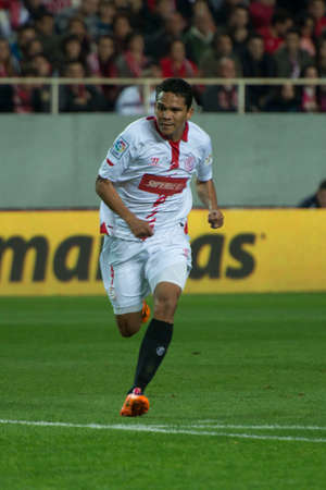 bacca: Seville, Spain, December 15, 2013, Bacca during the match between Sevilla - Athletic, week 16 of the Liga BBVA at the Sanchez Pizjuan stadium Bilbao   Photo Carlos Bouza