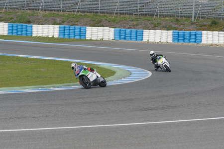 moto2: JEREZ DE LA FRONTERA, SPAIN, 18 FEBRUARY 2014  training at the racetrack in Jerez, Spain Editorial