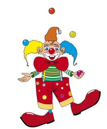 juggler: Clown juggler Illustration