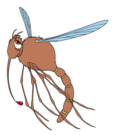 gluttonous: Happy mosquito after a libation Illustration