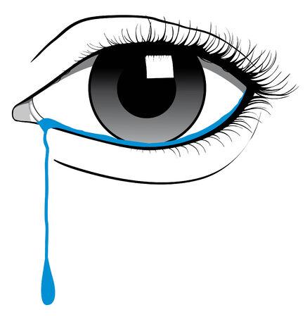 eye drops: Crying eye Illustration