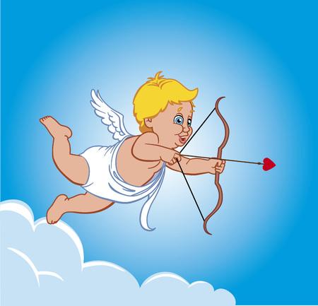 Cupid on a cloud Vector