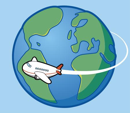 pilot wings: Travel around the world Illustration
