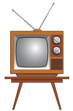 Ancient télévision sur table