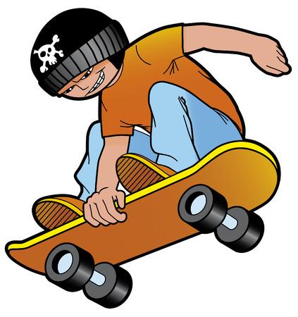 Skater jumping Illustration