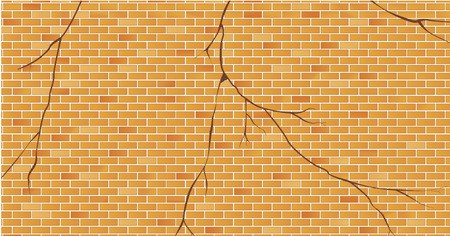 cracked wall: Bricks wall cracked