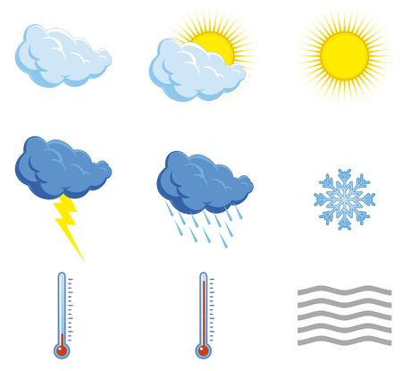 iconos del clima: Establecer condiciones meteorol�gicas iconos