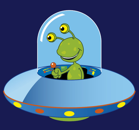 ufo: Cartoon ufo Illustration
