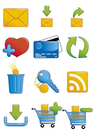 wastebasket: Internet icons 2 Illustration