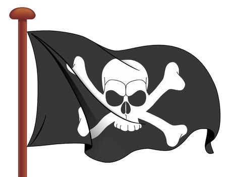 Pirate flag Illustration