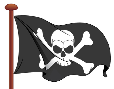 skull and crossbones: Pirate flag Illustration