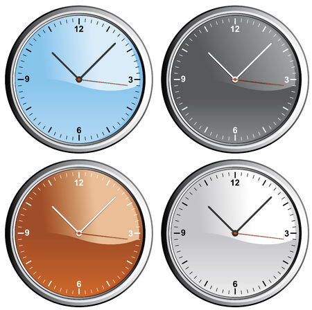 Wall clocks in diferent colors