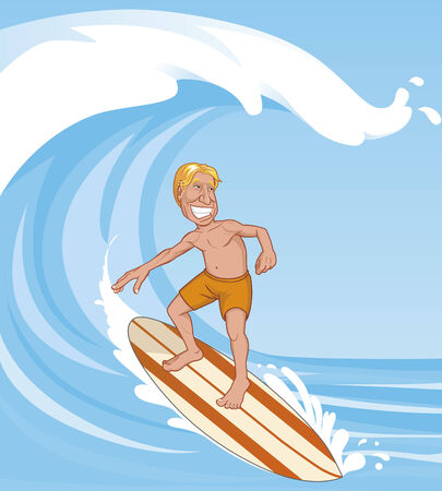 Surfer on the wave Illustration