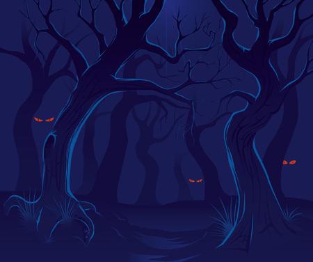 Forêt effrayante nuit 2