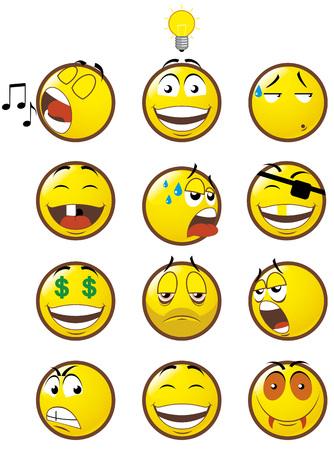 ridicolo: Emoticon 3 Vettoriali