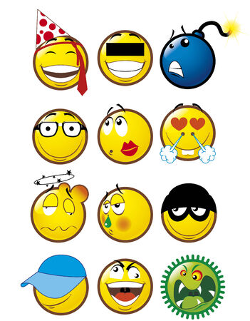 Emoticons 4 Stock Vector - 3678375