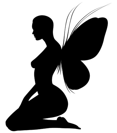fairy silhouette: Fairy silhouette Illustration
