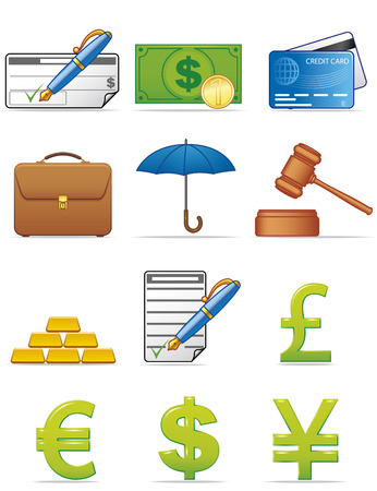 Finance icons Stock Vector - 3977157
