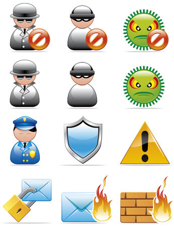 Internet securtiy icons Stock Vector - 4010981