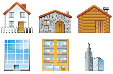 Building icons 1 of 2 Stock Vector - 4089666
