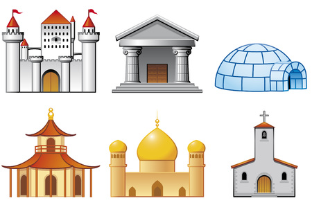museums: Building icons 2 of 2 Illustration