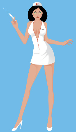 sexy woman standing: Sexy nurse