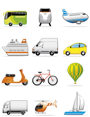 Vehicles icons Illustration