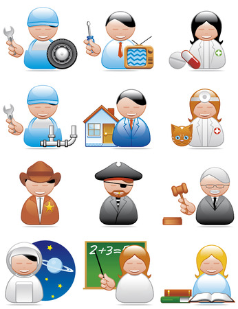 Occupations icons Stock Vector - 4285013