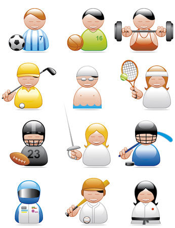 Occupations icons (sports)
