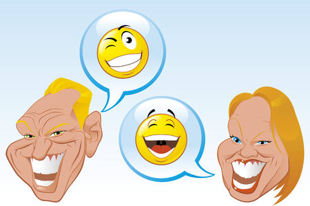 Internet chat conversation Vector