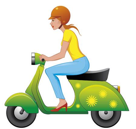 motorrad frau: Scooter M�dchen