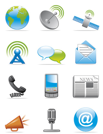 Communication icons Illustration