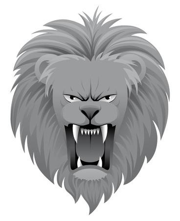 Lion roar Vector