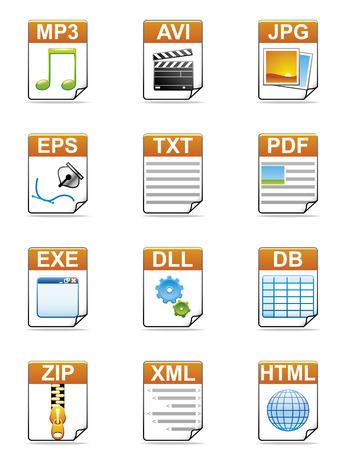 txt: File type icons