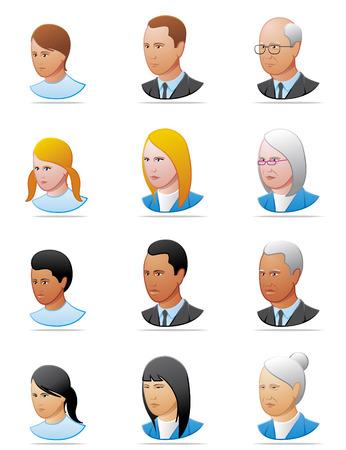 personas ancianas: Iconos de personas Vectores