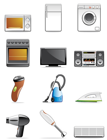 Household appliance icons Stock Vector - 4795675