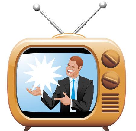 showman: TV olla Vectores