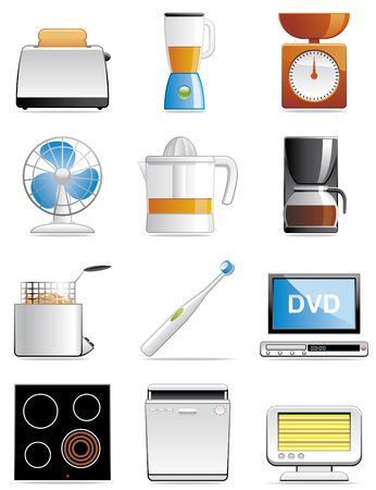 Household appliance icons Stock Vector - 4828655