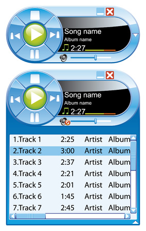 Mini music player Vector