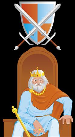 dictator: Old king Illustration