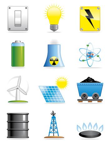 Energy icons Stock Vector - 4913947