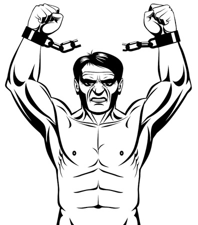 prisoner man: Breaking the chains Illustration