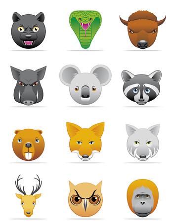 Wild animals icons Ilustrace