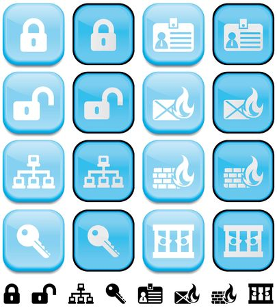 Internet security buttons with pushed effect Up and down button Stock Photo - 5308729