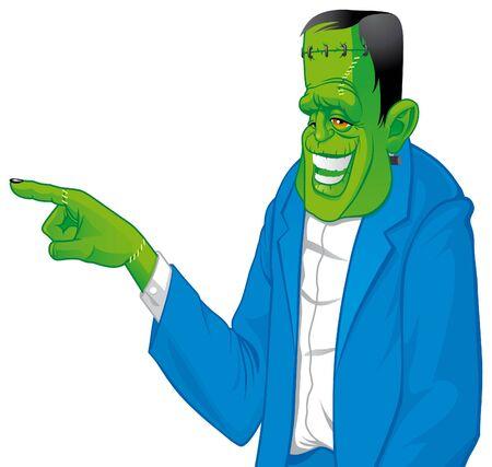 Frankenstein pointing something photo