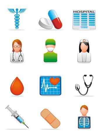 Medical icons Stock Photo