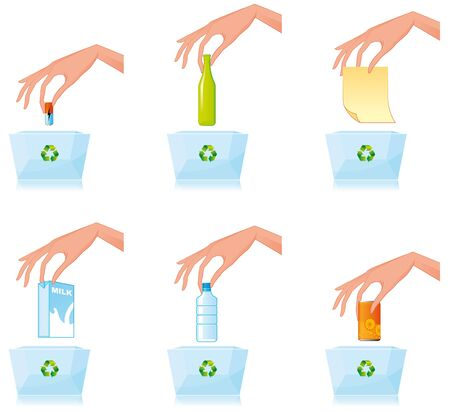 Recycling different materials