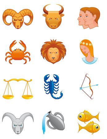 Zodiac icons Stock Photo - 5596360