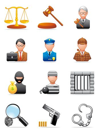 Crimen and justice icons Stock Photo - 5757910